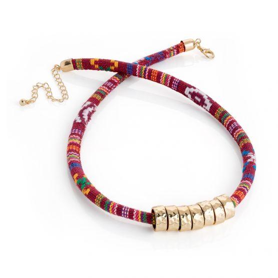 pink boho ring necklace