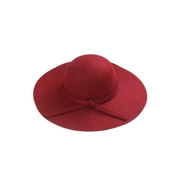 Red Floppy Wid Brim Hat