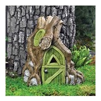 Rustic Root Foyer Fairy House for creating a miniture fairy garden.