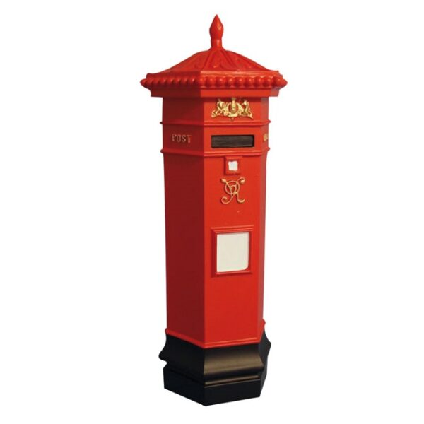 Victorian Red Post Box. 1/12th scale Dolls House Accessory.