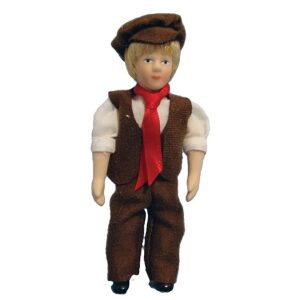 Victorian Lad porcelain poseable doll 1/12th scale.