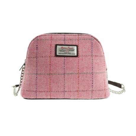 Harris Tweed Pink Cross Body Shoulder Bag