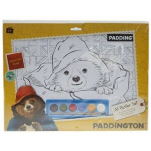 Paddington Bear A3 Poster Art Set with Paint & 6 Sheets