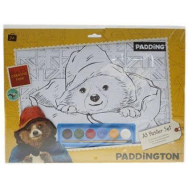 Paddington Bear A3 Poster Art Set with Paint & 6 Sheets